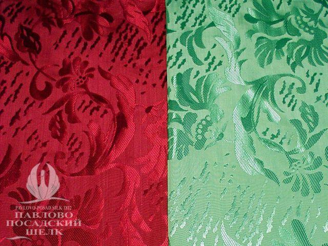 Тонкая плотная шелковая ткань с блестящим рисунком 6